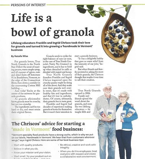 UpCountry Magazine Article on True North Granola