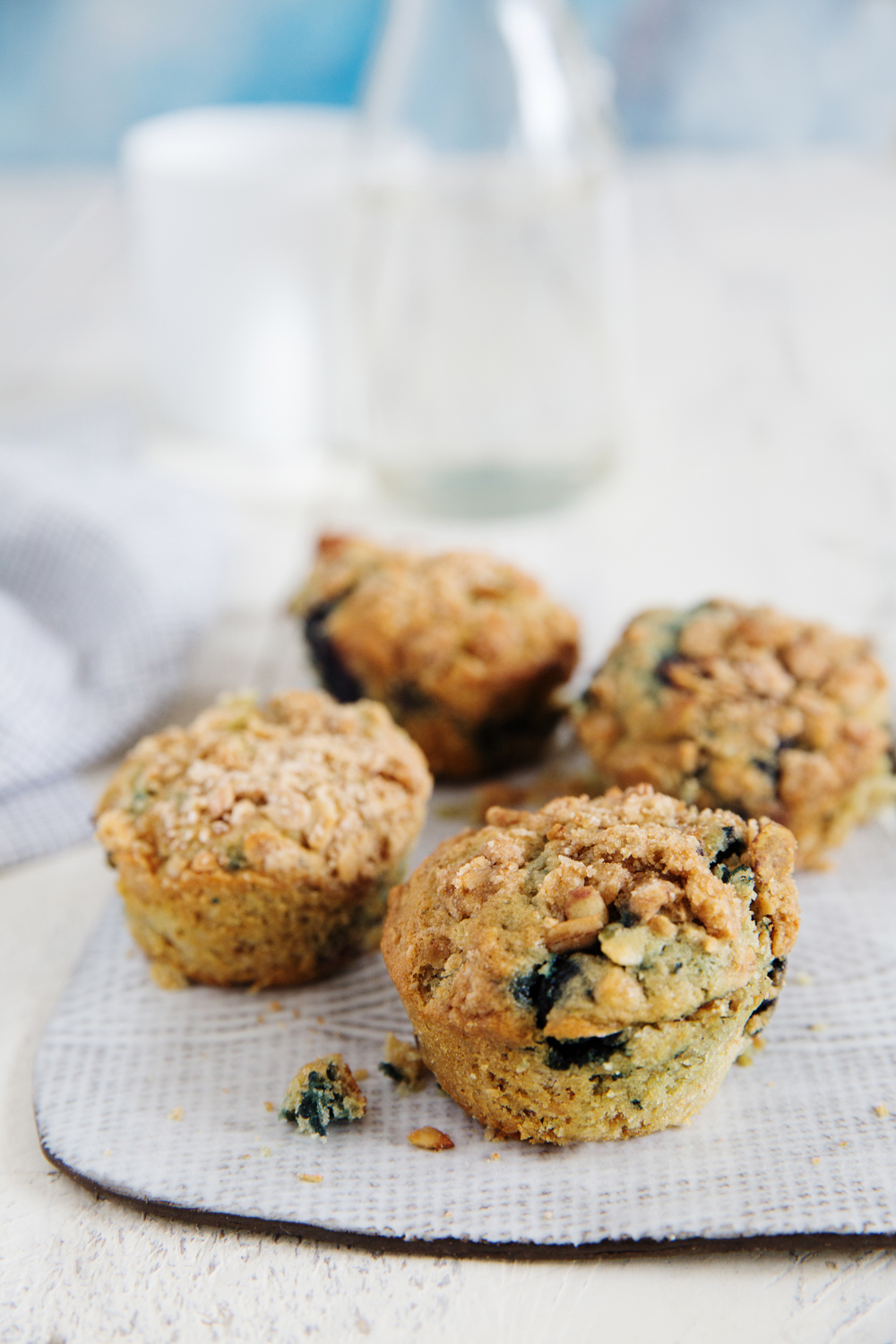 Blueberry Muffins with Granola is one of the recipes that is perfect for Summer.