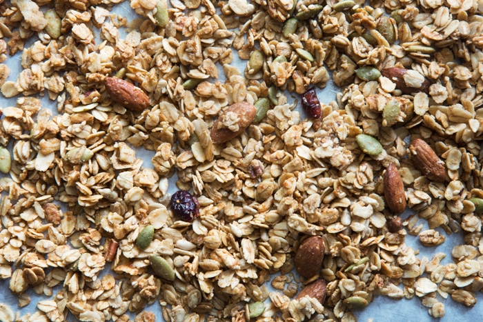 A bunch of Go Nuts Granola to answer the question of what is granola.