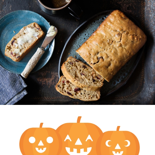 Zucchini Bread with Pumpkin Granola (Halloween Granola)