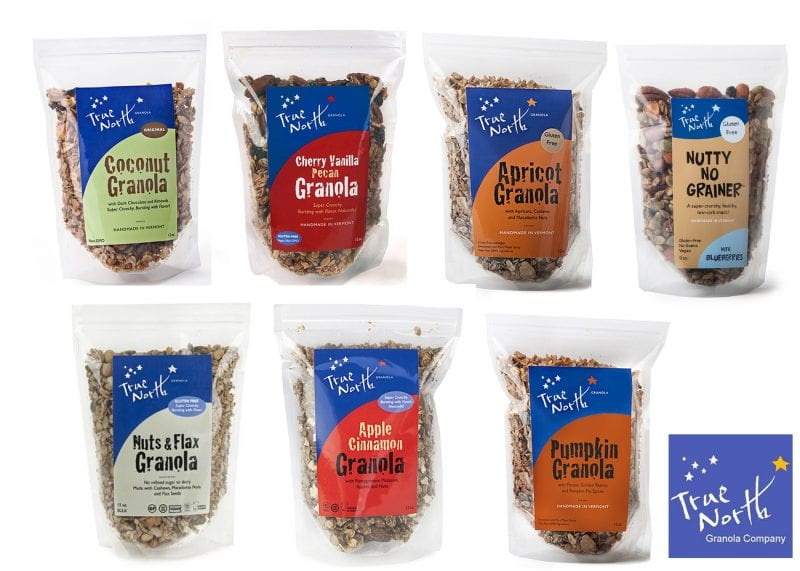 The 7 soon-to-be-impacted flavors of True North Granola.