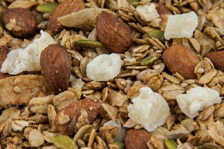 Close-up of Ginger Granola