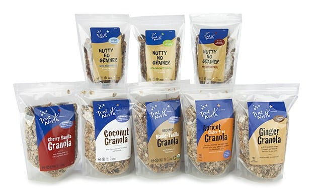 Group of gluten-free granolas