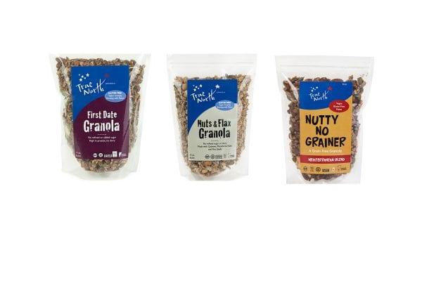 First Date Granola, Nuts & Flax Granola and Nutty No Grainer Mediterranean Blend.