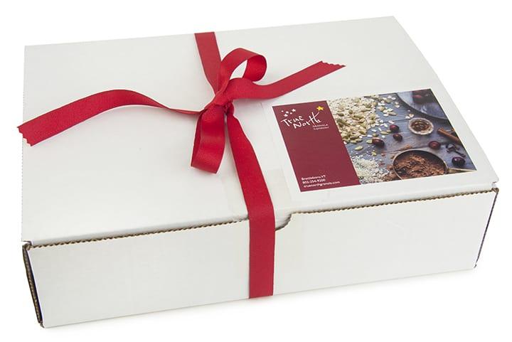 Red granola gift box