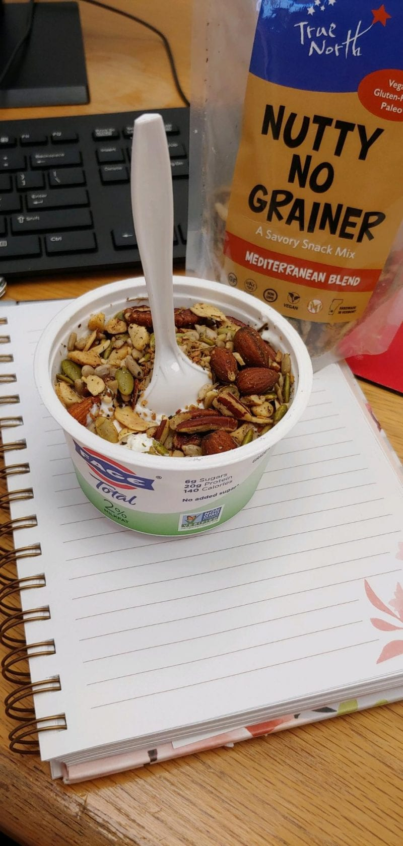 Nutty No Grainer on yogurt for lunch