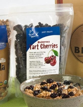 Breakfast bundle with gluten-free maple vanillla granola and cherries