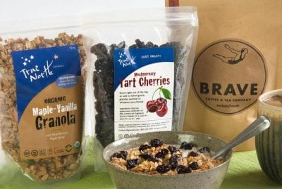 Breakfast bundle with gluten-free maple vanillla granola and cherries