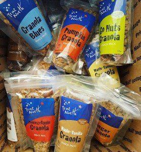 Granola Snack Packs in box