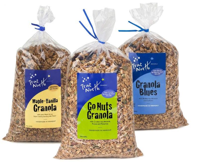 Bags of bulk granola