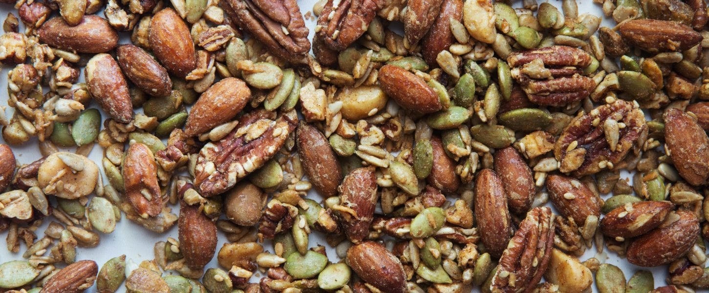 The nuts, including pecans, that are in our Nutty No Grainers.