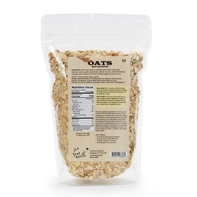 oats gluten free package back