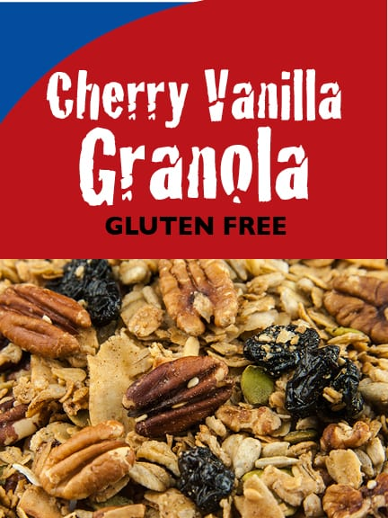 Cherry Vanilla Granola Label
